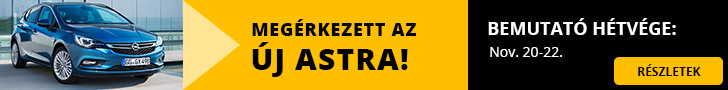 Megérkezett az új Astra! Bemautató hétvége: Nov.20-22